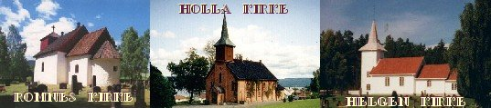 Kirkene i Holla.